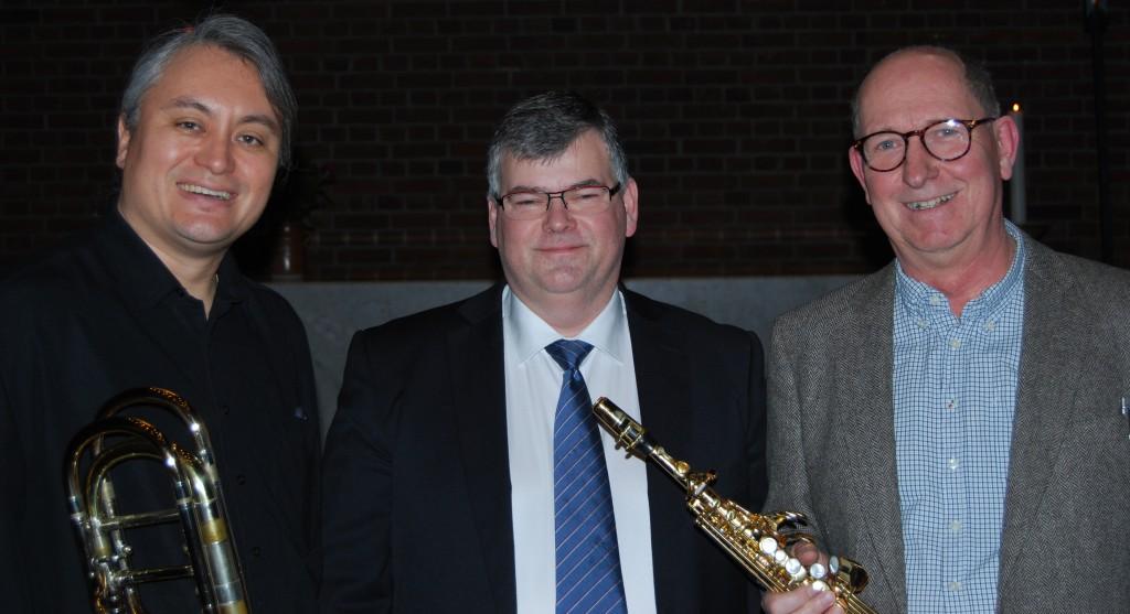 Daniel Vistam, Larsåke SJöstedt och Per Bäcker.